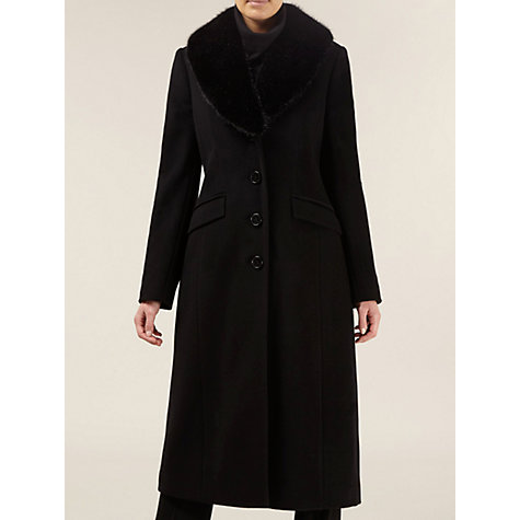 Buy Planet Fur Trim Long Wool Coat Online at johnlewis.com