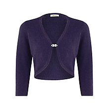 Buy Precis Petite Angora Diamante Shrug, Purple Online at johnlewis.com