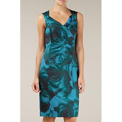 Buy Alexon Rose Print Dress, Green Online at johnlewis.com