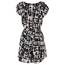 Buy Warehouse Checked Playsuit, Black/White Online at johnlewis.com
