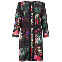 Buy Ted Baker Nicolle Wing Print Tunic Dress, Dark Green Online at johnlewis.com