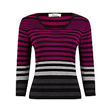 Buy Precis Petite Striped Jumper, Black/Pink Online at johnlewis.com