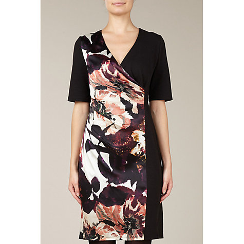 Buy Kaliko Floral Panel Dress, Black Online at johnlewis.com