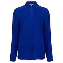 Buy Jigsaw Silk Shirt, Blue Online at johnlewis.com