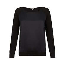 Buy Jigsaw Silk Front Raglan Sweater Online at johnlewis.com
