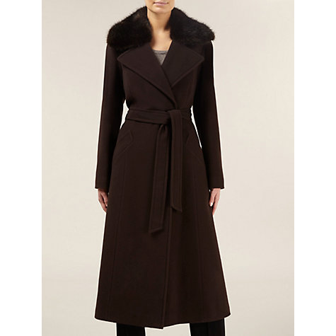 Buy Planet Belted Wool, Brown Online at johnlewis.com