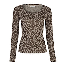 Buy Planet Animal Print Jersey Top Online at johnlewis.com