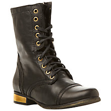 Buy Steve Madden Troopale SM Worker Calf Boots Online at johnlewis.com