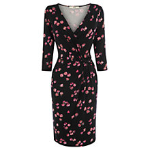 Buy Oasis Rose Print Dress, Black Online at johnlewis.com