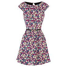 Buy Oasis Ditsy Printed Skater Dress, Multi Online at johnlewis.com