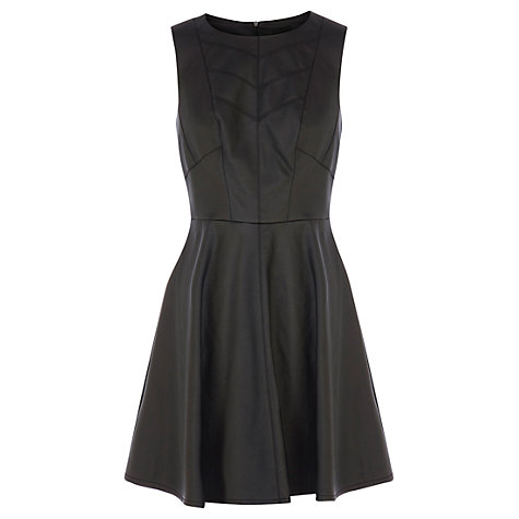 Buy Oasis Sophia Faux Leather Dress, Black Online at johnlewis.com