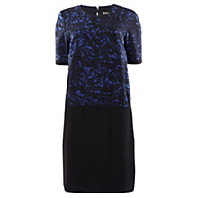 Buy Jigsaw Printed Round Neck Dress, Blue Noise Online at johnlewis.com