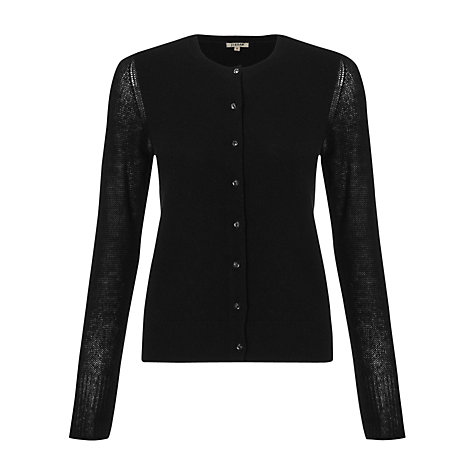 Buy Jigsaw Pure Cashmere Sleeve Cardigan, Black Online at johnlewis.com