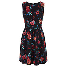 Buy Oasis Tapestry Print Dress, Black Online at johnlewis.com