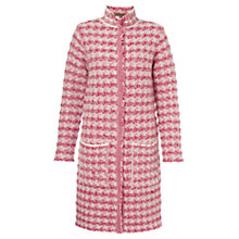 Buy Jigsaw Textured Check Knit Coat Online at johnlewis.com