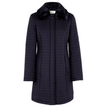 Buy Precis Petite 3/4 Length Quilted Coat. Navy Online at johnlewis.com