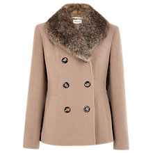 Buy Precis Petite Pea Coat, Camel Online at johnlewis.com