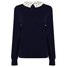 Buy Oasis Printed Cat Collar Jumper Online at johnlewis.com