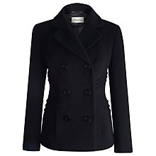 Buy Precis Petite Pea Coat, Black Online at johnlewis.com