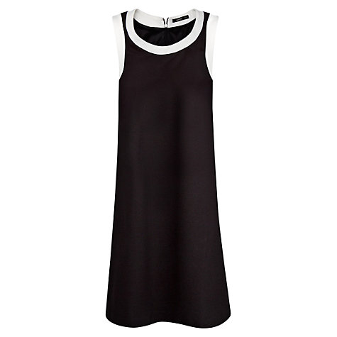 Buy Mango Contrast Shift Dress, Black Online at johnlewis.com