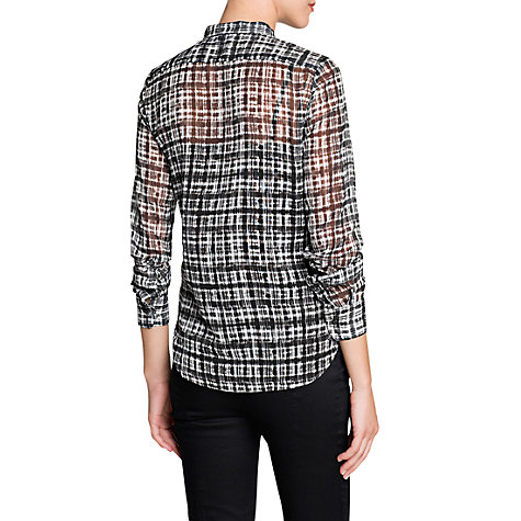Buy Mango Irregular Check Blouse Online at johnlewis.com