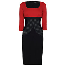 Buy James Lakeland Square Neck Dress, Red and Black Online at johnlewis.com