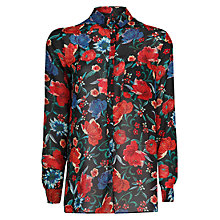 Buy Mango Floral Print Flowy Blouse, Multi Online at johnlewis.com