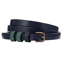 Buy Collection WEEKEND by John Lewis Contrast Triple Keeper Leather Belt Online at johnlewis.com