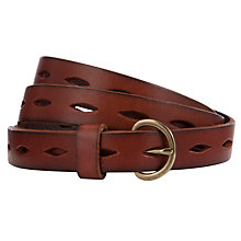Buy Collection WEEKEND by John Lewis Slot Strap Leather Belt Online at johnlewis.com