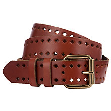 Buy John Lewis Jeanie Diamond Punchout Belt Online at johnlewis.com