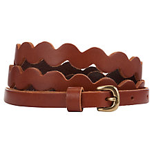 Buy Collection WEEKEND by John Lewis Ric Rac Leather Belt, Tan Online at johnlewis.com