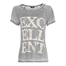 Buy Mango Typographic Print T-Shirt Online at johnlewis.com