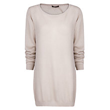 Buy Mango Openwork Back Sweater, , Light Beige Online at johnlewis.com