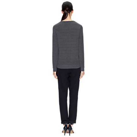 Buy Whistles Lola Lounge Sweatshirt, Grey Online at johnlewis.com