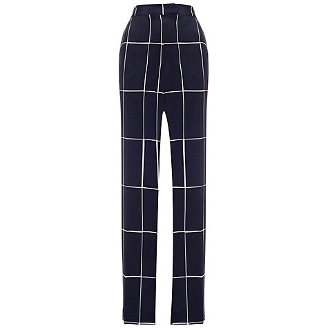 Buy Whistles Slate Print Wide Leg Trousers, Navy Online at johnlewis.com