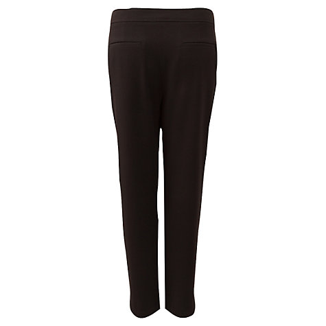 Buy East Crepe Slim Leg Trousers, Black Online at johnlewis.com