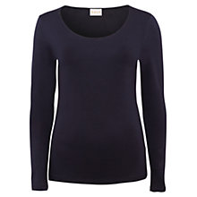 Buy East Stitch Neck Detail Jersey Top Online at johnlewis.com