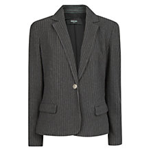 Buy Mango Pinstripe Blazer, Dark Grey Online at johnlewis.com