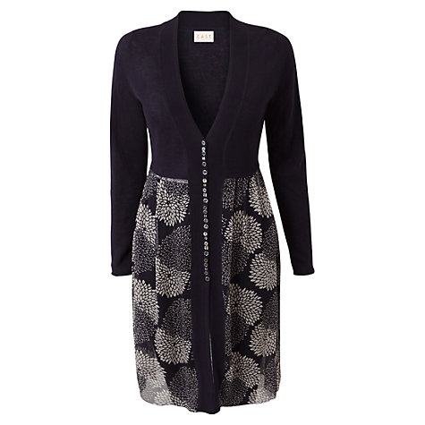 Buy East Clarissa Cardigan, Navy Online at johnlewis.com