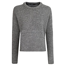 Buy Mango ZigZag Jumper, Medium Grey Online at johnlewis.com