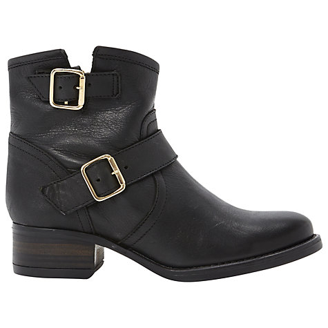 Buy Steve Madden Tiarraa Buckle Detail Biker Boots Online at johnlewis.com
