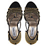 Buy Steve Madden Avory Sandals, Black/Gold Online at johnlewis.com