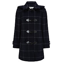 Buy Four Seasons Check Duffle, Navy/Grey Online at johnlewis.com