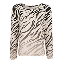 Buy Mango Oversized Zebra Print Sweatshirt, Natural White Online at johnlewis.com