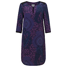 Buy Ghost Laura Print Tunic Dress, Angela Paisley Purple Online at johnlewis.com