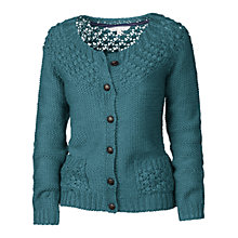 Buy Fat Face Bobble Cardigan, Petrol Online at johnlewis.com