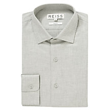 Buy Reiss Ivy Long Sleeve Shirt, Grey Online at johnlewis.com