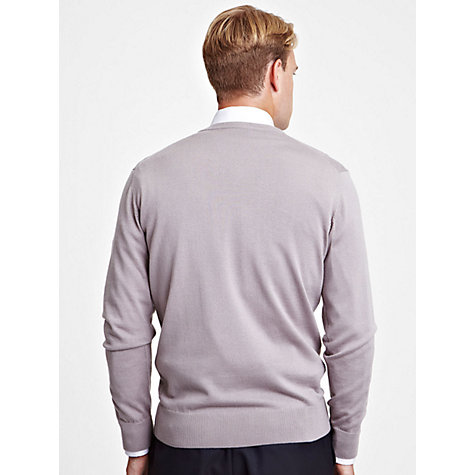 Buy Thomas Pink Milard V-Neck Jumper, Purple Online at johnlewis.com