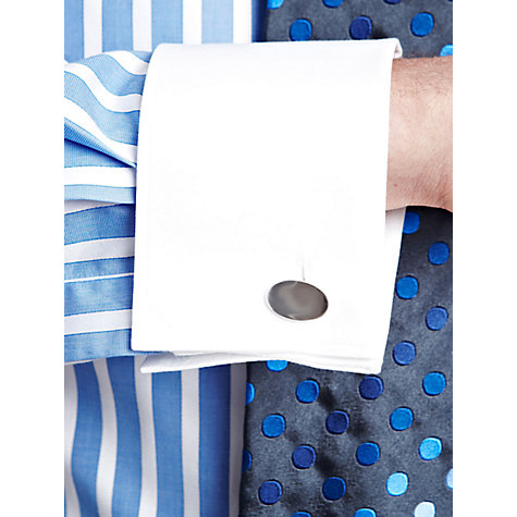 Buy Thomas Pink Gladwin Striped Double Cuff Shirt, White/Blue Online at johnlewis.com
