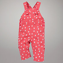 Buy John Lewis Spot and Dot Dungarees, Pink Online at johnlewis.com
